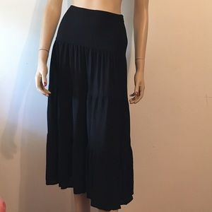BCBGMAXAZRIA maxi black skirt high waist size:2